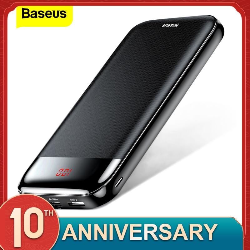 Baseus 20000mAh Power Bank 20000 MAh LCD USB C PD Fast Charging Powerbank Portable External Battery Charger For Xiaomi Poverbank