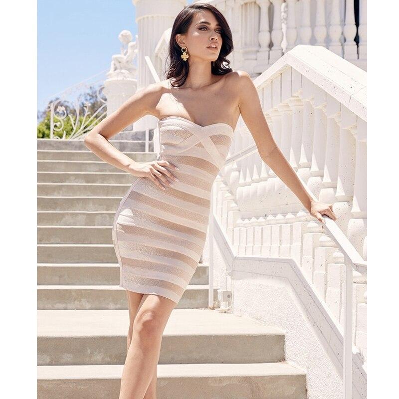 Élégant kaki Sexy hors épaule robe pailletée mode bretelles rayé Design pour les femmes décontracté robe de soirée en gros 2019