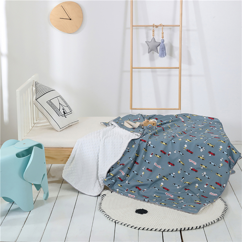 Baby Quilts Double Sided Blanket Fleece Kids Adults Cartoon Blanket Towel Travel Office Sofa Bedspread Knee Blanket
