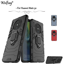 For Huawei Mate 30 Case Shockproof Armor Metal Finger Ring Holder Phone Cover Fundas