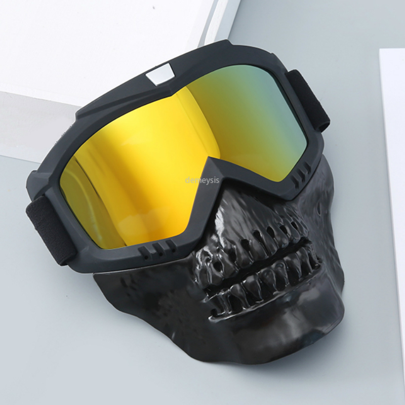 Outdoor Hunting Paintball Mask Goggle Military Airsoft Shooting Protection Goggles Mask Tactical Detachable Mask Goggles