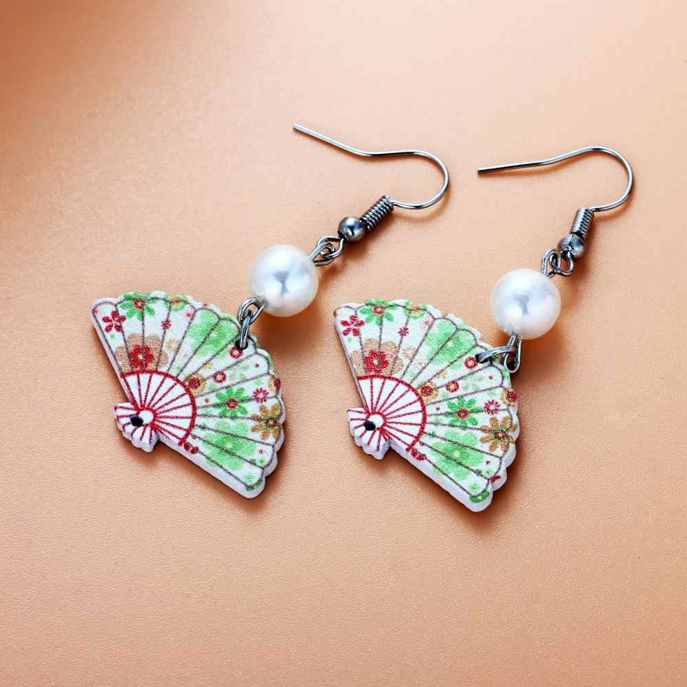 Jessie pepe 2019 New Arrival Chinese Traditional Style Fan Drop Earrings 11 Styles East Asian Jewelry #CP016