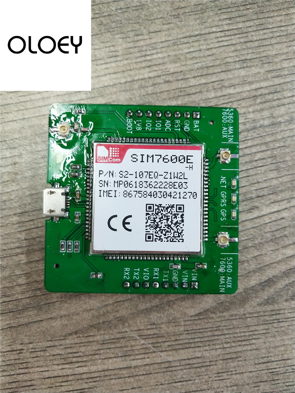 SIM7600E-H LTE Extended Boards, SIM7600E-H LTE KIT, USB TTL UART Interface
