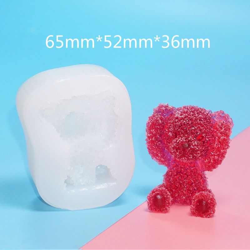 3D Sweet Bear Silicone Mold Kawaii Clear UV Resin Mold Decoden Epoxy Resin Flexible Mold Candle Making Silicone Mold For Resin