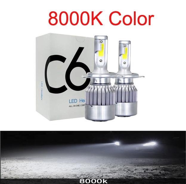 Muxall 2 шт. Blub авто автомобиль H8 H11 H7 H4 H1 светодиодный фары 6000 К холодный белый 72 Вт 8000 лм COB лампы Диоды автомобилей запчасти лампы - Испускаемый цвет: 8000K