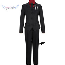 Helltaker Cerberus male and female Cosplay Costume Halloween Carnival Costume !(China)