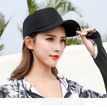 Cotton Baseball Cap with Iron Rings Long Strap Angled Brim Adjustable Peaked Hats Headwear Tennis Hat Outdoor Sportswear