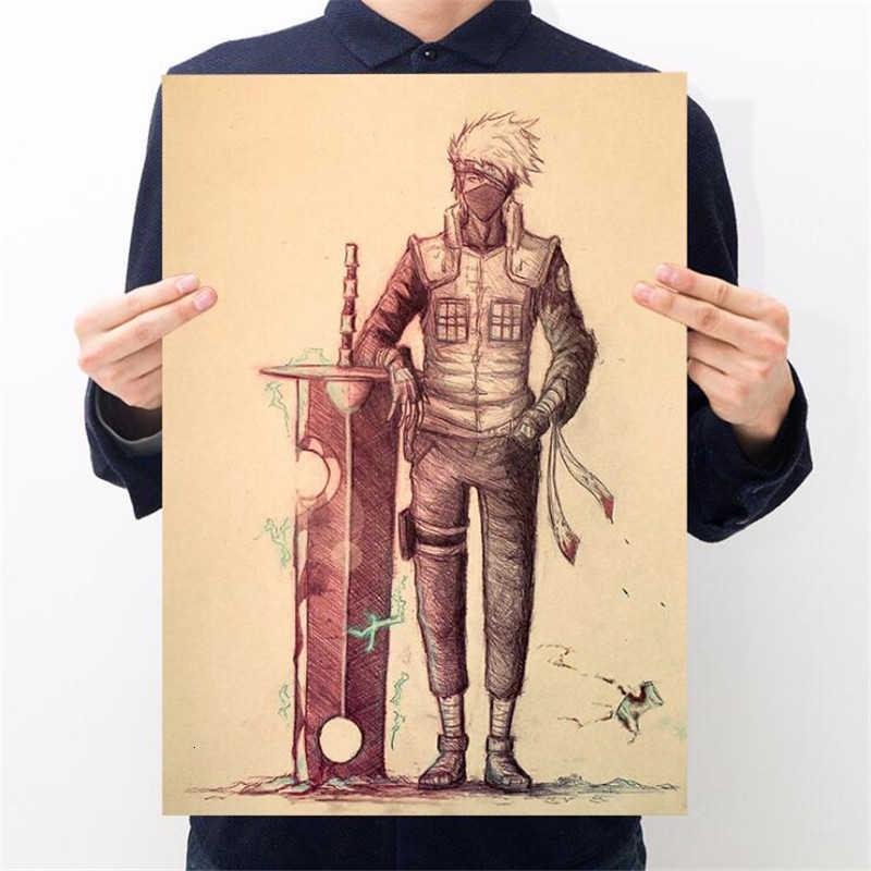Cổ Điển Naruto Hình Sasuke Đau Neji Tranh Anime Poster Vintage Decoracion Tường Nghệ Thuật Giấy Kraft Áp Phích Dán Tường