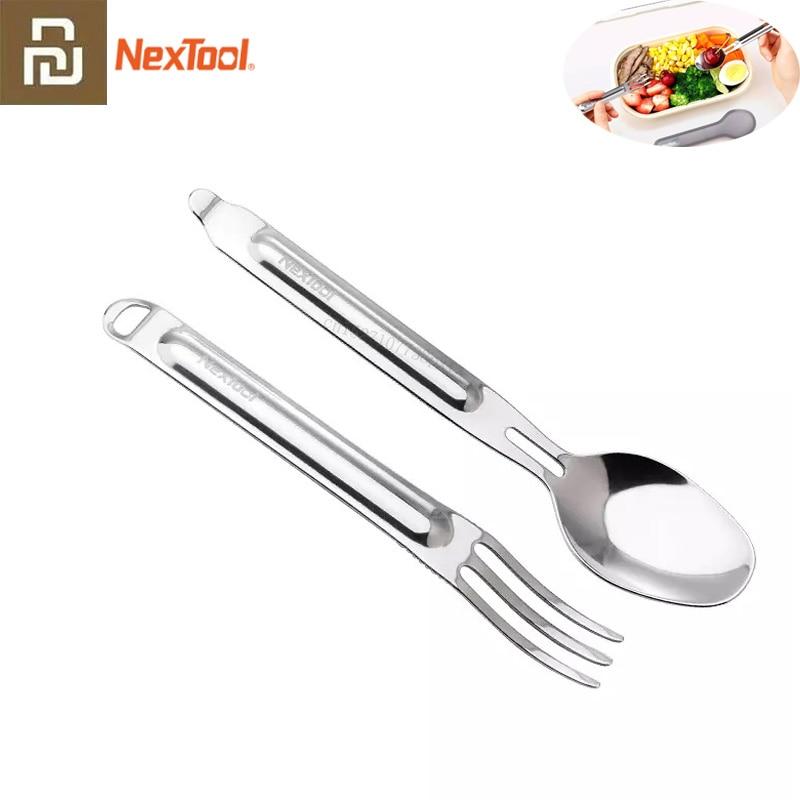 Youpin NexTool вилка ложка наружная Чистая нержавеющая сталь портативная посуда 2 в 1 Съемная Спортивная здоровая Удобная|Смарт-гаджеты|   | АлиЭкспресс