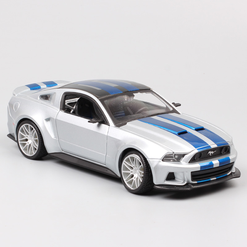 1/24 scale 2014 <font><b>Ford</b></font> <font><b>Mustang</b></font> GT street racer muscle cars Shelby GT500 model auto Diecast Vehicle game toys hobby gift miniatures image