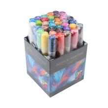 24/36 colori di Vernice Acrilica Penna di Indicatore Dettagliata Marcatura per L'album FAI DA TE di Vetro di Ceramica Roccia di Tela Legno