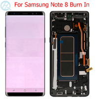 Original Burn In Note 8 Display For Samsung Galaxy Note 8 LCD With Frame 6.3 Super AMOLED SM N950F N950A Display Touch Screen