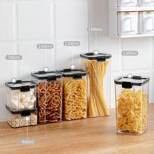 4 rozmiar hermetyczne przechowywanie żywności zestaw kuchenny kuchnia i spiżarnia organizacja suche pojemniki na żywność przezroczysty z tworzywa sztucznego kanistry z pokrywkami