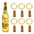 2 м 20LED бутылки вина светильники-пробка светящиеся гирлянды для Одежда для свадьбы, дня рождения Рождество домашний бар украшения с батареей