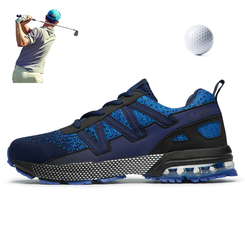 Couple Outside Golf Shoes Comfortable Mesh Breathable Men Big Size Golfer Sneakers Women Spring Summer Golf Training Trainers