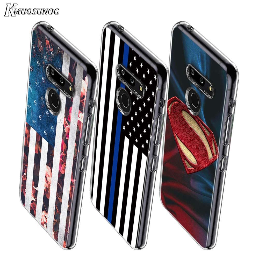 American Flag Superman Shield Style For LG W20 W10 V50S V50 V40 V30 K50S K40S K30 K20 Q60 Q8 Q7 Q6 G8 G7 G6 Thinq Phone Case