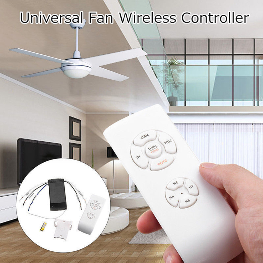 110v 220v Ceiling Fan Remote Control Universal Ceiling Fan Lamp Remote Control Kit Timing Wireless Fan Lamp Remotes Controller
