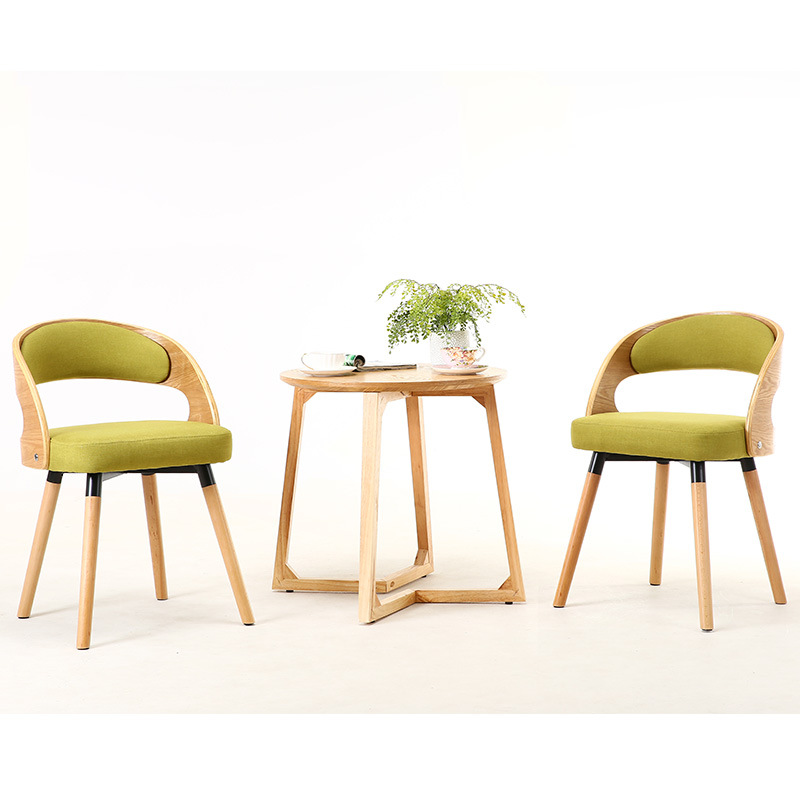 Solid Wood Balcony Three-piece Tables And Chairs Teapoy Table Combination Leisure Chair Wo Shi Yi Courtyard Tables And Chairs Mi