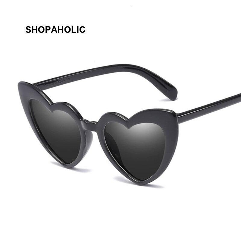 Heart Sunglasses Women Brand Designer Cat Eye Sun Glasses Female Retro Love Heart Shaped Glasses Ladies Shopping UV400