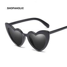 Lunettes de soleil rétro en forme de cœur pour femme, verres de styliste, yeux de chat, amour, Shopping, UV400