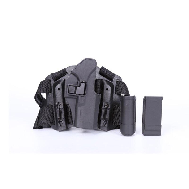 Étui tactique pour cuisse droite avec poche torche Glock 17 19 22 23 31 32 - 2