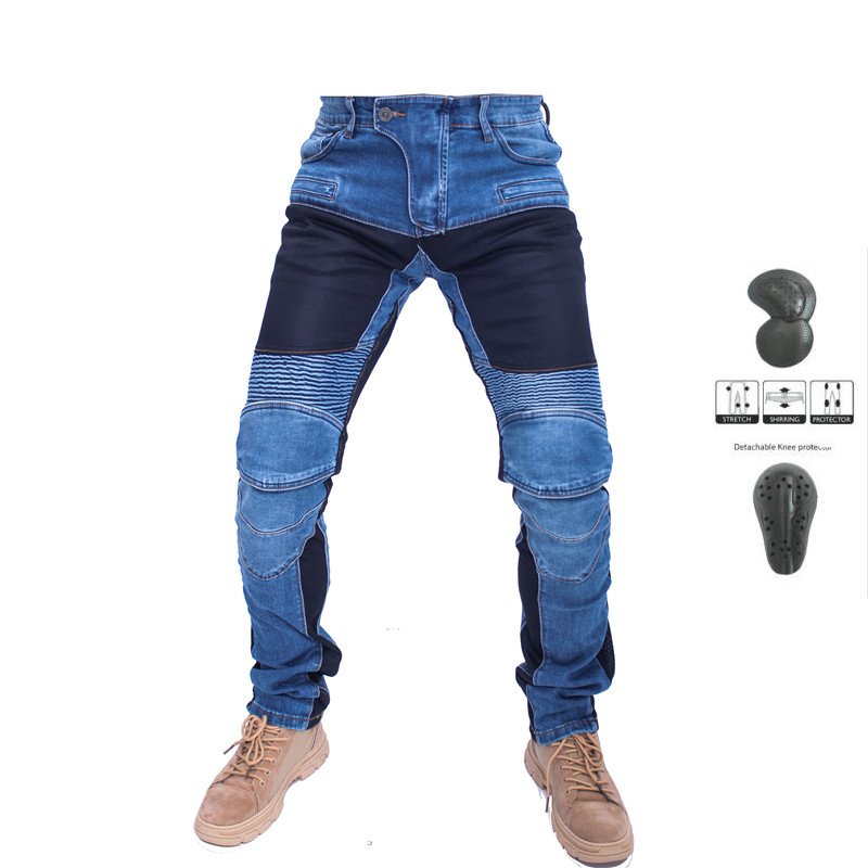 KOMINE MOTORPOOL UBS06 PK719 Jeans Leisure Motorcycle Men's Off-road Outdoor Jean/cycling Summer Pants With Protect Equipment