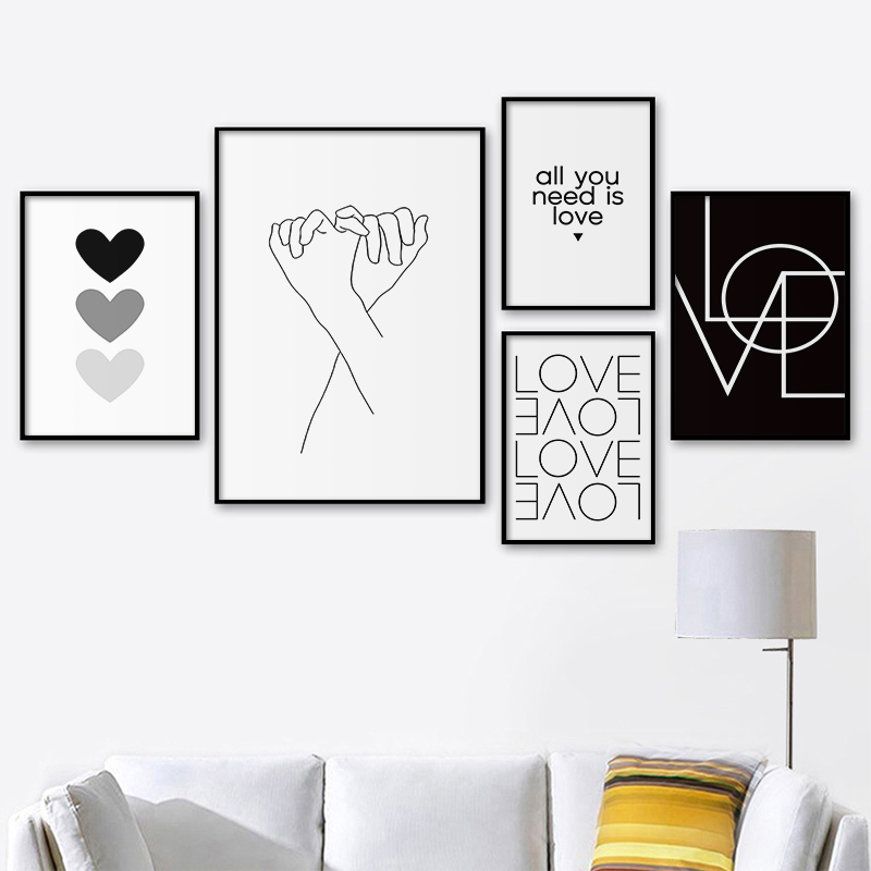 Minimalist Style Canvas Print Decorative Painting Nordic Wall Art Poster Bedroom Wall Pictures for Living Room