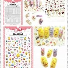 Ультратонкие 3D наклейки для ногтей в японском стиле с резиновой наклейкой для ногтей роспись ногтей HanYi082-103