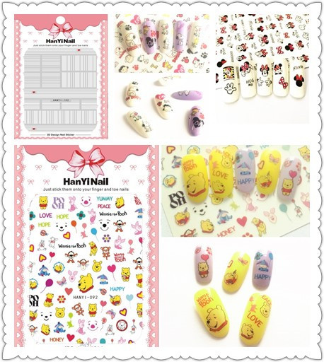 Ultra-Thin Japanese-style 3D Nail Decals With Gum Nail Sticker Nail Ornament HanYi082-103