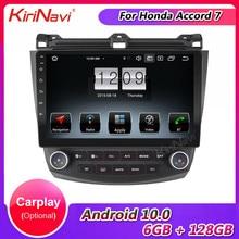 Автомагнитола KiriNavi, 9 дюймов, сенсорный экран, Android 10,0, для Honda Accord 7, Автомобильный мультимедийный плеер, GPS-навигация, стерео 2003-2007