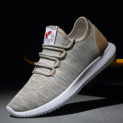 LINGGE Arrival Spring Summer sneaker Comfortable Casual Breathable Mesh Shoes For Men Lace-Up Brand Fashion Flat Loafers Shoes