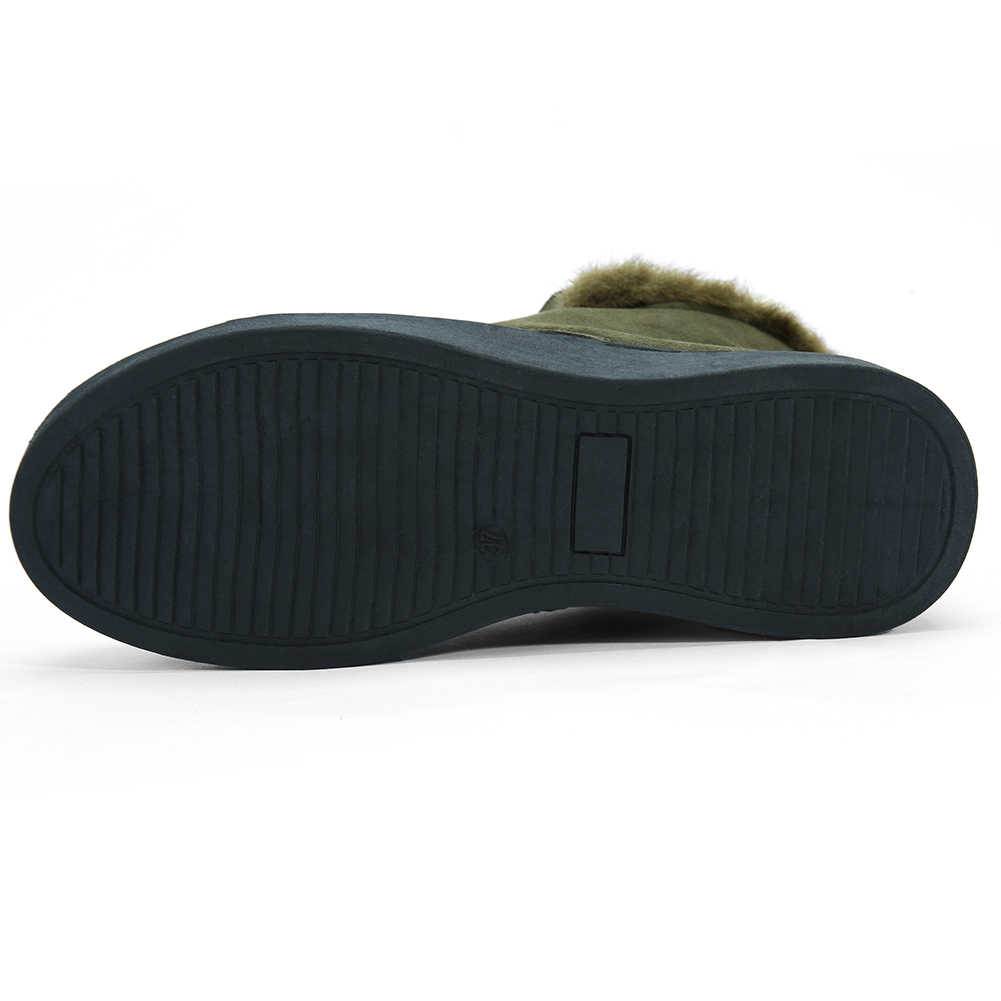2020 rusya kış kadın ayakkabı kar botları kauçuk kısa peluş akın yuvarlak ayak rahat topuklu yarım çizmeler kış