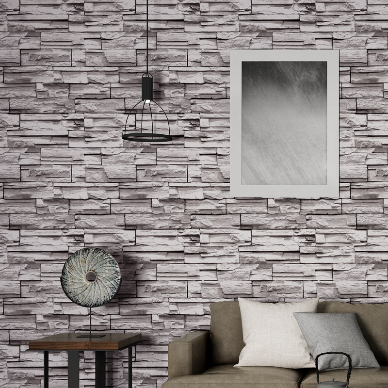 Chinese Style 3D Model Stones Art Stone Wallpaper Retro Stone Brick Pattern Brick Cool Restaurant Wallpaper
