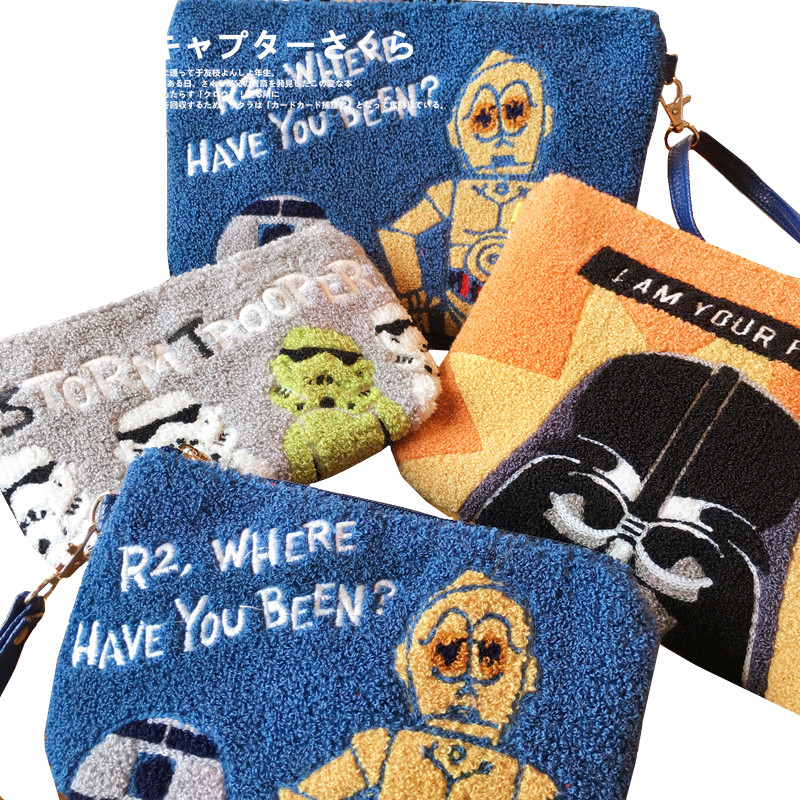 Fashion Cartoon Star Wars Darth Vader Stormtrooper Clutch Makeup Bag Pouch Women Messenger Bag Sling Crossbody BagsTop-Handle Bags   -