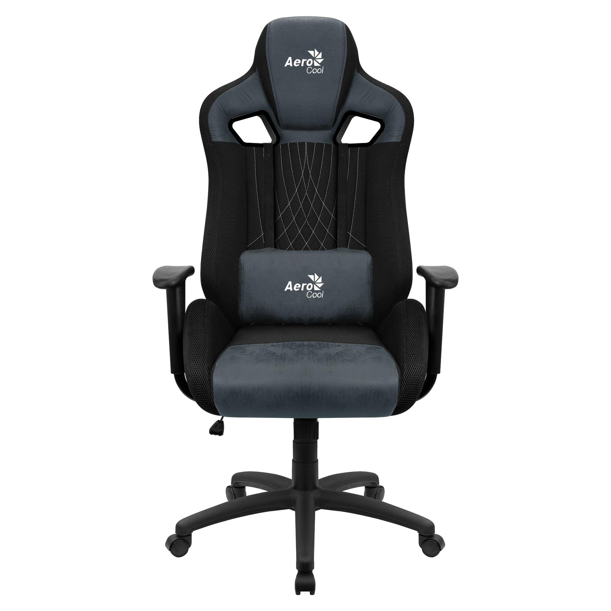 Aerocool EARL, Gaming Chair, AeroSuede Breathable, Backstop Adjustable, Blue