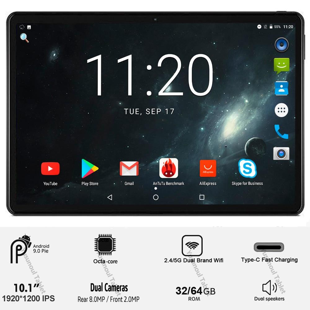 Vendas 10 polegada tablet pc 5g wifi 4g lte 1920*1200 resolução hd android 9.0 torta octa núcleo mt6762 câmeras duplas traseiras 8.0 mp comprimidos