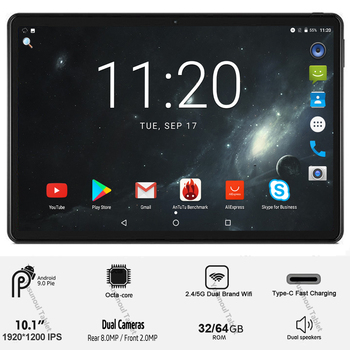 Ventas tableta pc de 10 pulgadas 5G Wifi 4G LTE 1920*1200 resolución HD Android 9,0 Pie Octa Core MT6762 cámaras duales trasera 8,0 MP tabletas