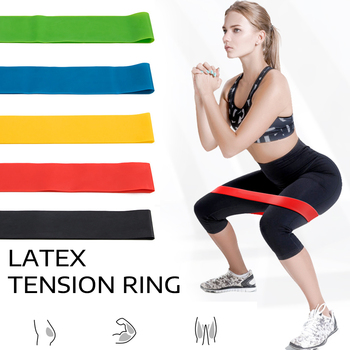 5 Colors Yoga Band Pull Rope Resistance Bands Set Exercises Latex Pedal Excerciser Body Fitness Training