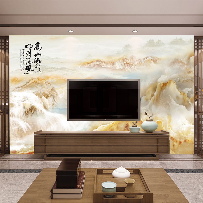 New European Style Mural 8D High Safety Marble Wallpaper Mural Living Room Television Background Wall Wallpaper Glorious Decorat