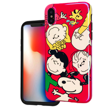 Luxury Brand Glossy IMD Soft Silicone Case for Apple iPhone 7 Plus 8 6 6X XR X 10 XS Max Cover Cartoon Cute Dog Family Coque