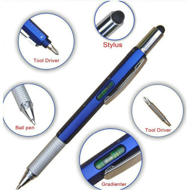 Multi-function Tool Screwdriver Touch Screen Capacities Phone Notebook Handwriting Ballpoint Stylus Pen Touch Pencil Accessories