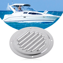 1 Pcs Stainless Steel Air Vent Grille Ventilation Louver Round Shaped Venting Mesh Louver Grille For Boat Yacht Caravans RV Etc