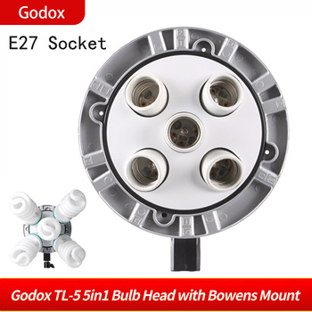 Godox TL-5 5 in1 Bulb Head Multi-Holder Tricolor Continuous Light Camera Photography Lighting