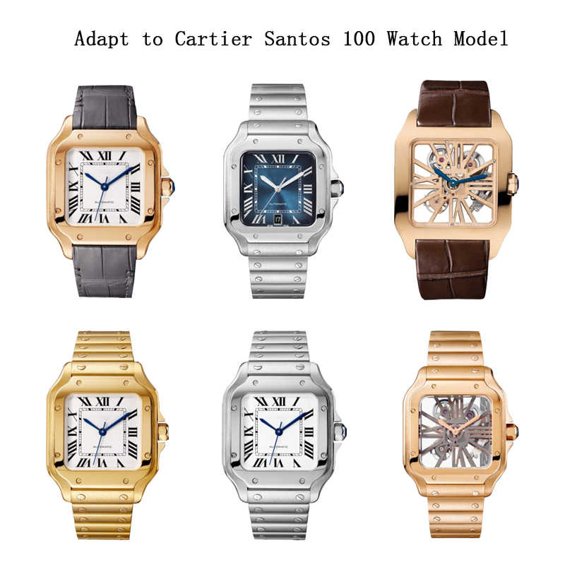 時計アクセサリー 20 ミリメートル 23 ミリメートルのため革ストラップSantos100 男性のと女性のスポーツレジャービジネス革ストラップ