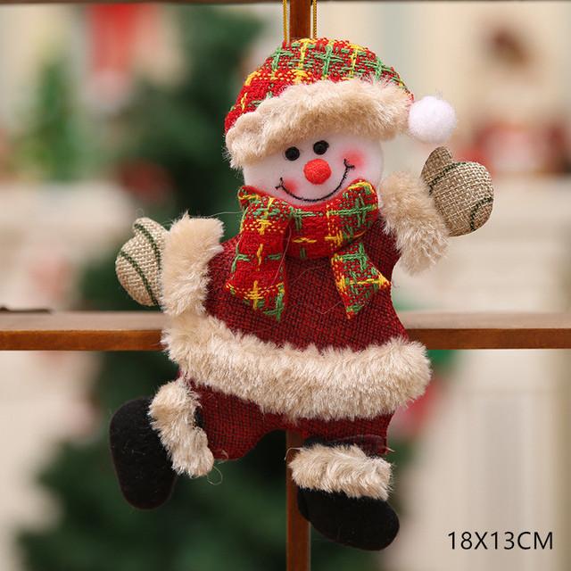New Year 2020 Cute Santa Claus/Snowman/Angel Christmas Dolls Noel Christmas Tree Decoration for Home Xmas Navidad 2019 Kids Gift 38