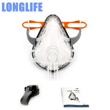 Longlife F1A CPAP APAP Full Face Mask For Auto CPAP Ventilator Respirator Snoring Sleep Apnea W/ Free Headgear Clips SML Sizes