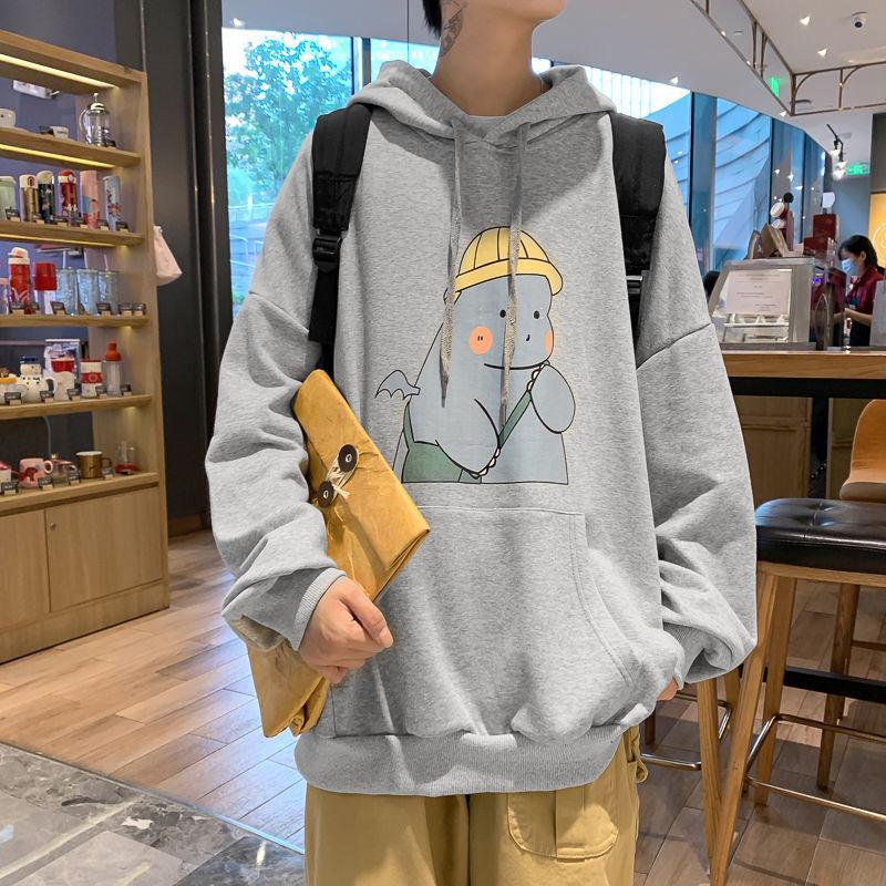Privathinker Cartoon Printed Solid Colors Men Hoodies 2020 Autumn New Men's Hooded Sweatshirts Man Streetwear Casual Pullovers
