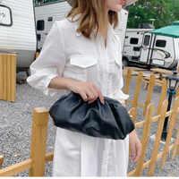 Femmes Simple Dumplings Messenger sac Designer rétro 2019 nouveau mode nuage femme bandoulière sac à bandoulière marée sac à main pochette