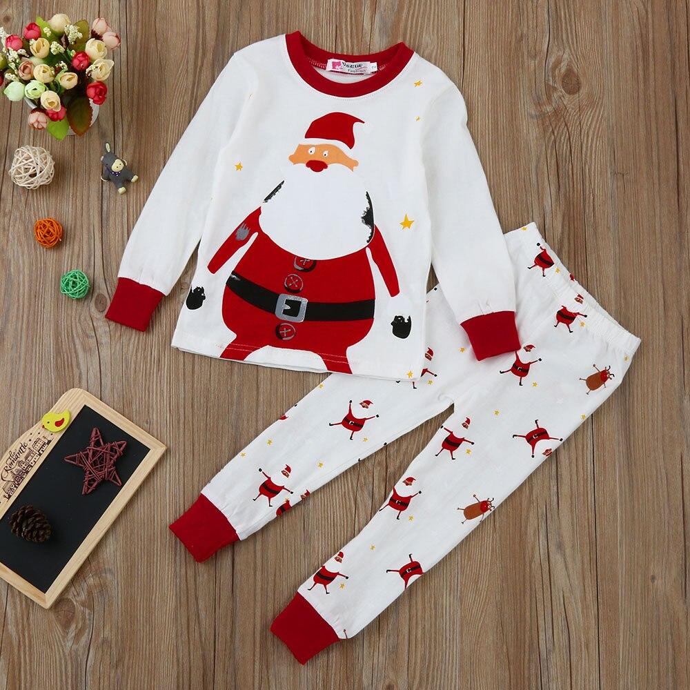Xmas Newborn Infant Baby Boy Girl Tops+pants Christmas Home Outfits Pajamas Set Winter Autumn Long Sleeve Teenage Clothes