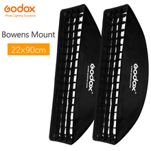 "2 pièces Godox 9 ""x 35"" 22x90cm nid dabeille grille Softbox pour Photo stroboscope Studio Flash Softbox Bowens Mount"